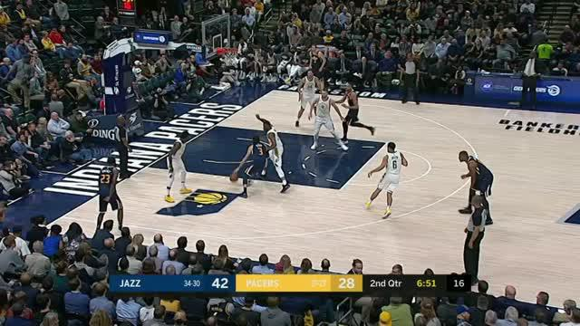 Berita video game recap NBA 2017-2018 antara Utah Jazz melawan Indiana Pacers dengan skor 104-84.