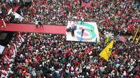 Deklarasi PUJO yang dihadiri sekitar 25 ribu massa digelar di Lapangan Manunggal, Kabupaten Lampung Barat, Rabu (10/4/2019). (Ist)