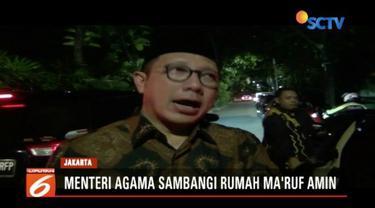 Ma'ruf Amin mengundang Menteri Agama Lukman Hakim dan Kepala Bappenas Bambang Brojonegoro untuk bersilaturahmi.