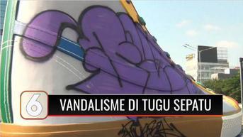 VIDEO: Baru Dipamerkan Sehari, Tugu Sepatu Sudirman Jadi Sasaran Vandalisme