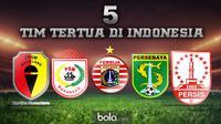 5 Tim Tertua di Indonesia (bola.com/Rudi Riana)