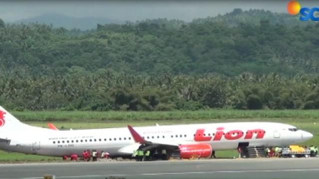 Badan pesawat Lion Air yang tergelincir sudah dievakuasi, Bandara Djalaludin, Gorontalo, kembali beroperasi.