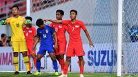 Duel Thailand vs Singapura di laga terakhir penyisihan Grup B Piala AFF 2018 di Stadion Rajamangala, Bangkok (25/11/2018). (Bola.com/AFF Suzuki Cup)