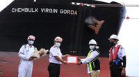 PT Pelabuhan Indonesia I (Persero) atau Pelindo 1 melakukan pelepasan kapal terakhir yang berlayar pada tahun 2020 (dok: humas)