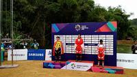 Atlet balap sepeda down hill putri, Tiara Andini menyumbang emas di Asian Games. Ia berencana menggunakan bonus juaranya untuk memperbaiki rumahnya