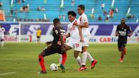 PSM Makassar menelan kekalahan kedua di Piala Presiden 2019. Pada laga kedua Grup C, PSM takluk 0-1 dari Persipura Jayapura di Stadion Moch Soebroto, Magelang, Minggu (10/3/2019). (Bola.com/Abdi Satria)