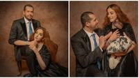 Tasya Farasya bersama suami dan buah hatinya tampil elegan dalam pemotretan. (Sumber: Instagram/@riomotret)
