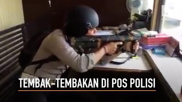 Aksi tembak-tembakan di sebuah pos polisi ternyata hanya sekedar gurauan semata.