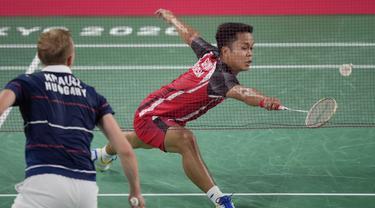 Foto:  Anthony Ginting Raih Poin Pertandingan Perdananya, Menambah Catatan Bagus Bulu Tangkis Indonesia di Olimpiade Tokyo 2020