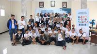 Puluhan mahasiswa dari Lembaga Pers Mahasiswa dan Pemuda Lintas Iman bergabung mengikuti acara Jurnalisme Keberagaman dan Pemuda Lintas Iman di Kuningan Jawa Barat. (Liputan6.com/ Ist)
