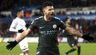 3. Sergio Aguero (Manchester City) - 21 Gol (4 Penalti). (AP/Nick Potts)