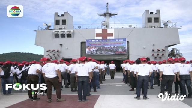 YPP SCTV-Indosiar bersama Dispotmar TNI AL gelar pembinaan karakter maritim di Lantamal VIII Manado.