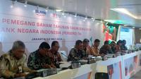 RUPST Tahun Buku 2018 PT Bank Negara Indonesia Tbk (Foto: Liputan6.com/Maulandy R)
