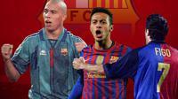 Barcelona - Ronaldo Nazario, Thiago Alcantara, Luis Figo (Bola.com/Adreanus Titus)
