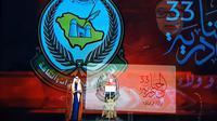 Menko PMK Puan Maharani menjadi pembicara di Festival Janadriyah ke 33 di Saudi Arabia. (Liputan6.com/Istimewa)