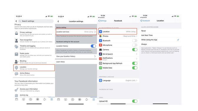 Cara setop pelacakan lokasi oleh aplikasi Facebook di iOS (Foto: Ubergizmo)