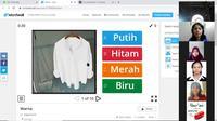 Pembelajaran jarak jauh pelajaran Bahasa Indonesia oleh KBRI Phnom Penh secara virtual. (Dok: Kemlu RI)