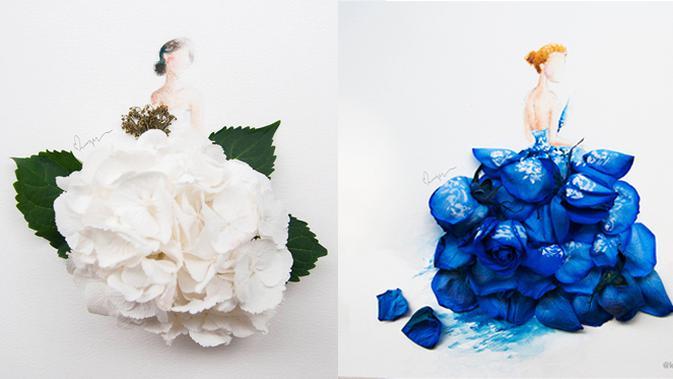 Cantiknya Karya Seni Yang Memanfaatkan Kelopak Bunga Lifestyle Liputan6 Com
