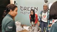 """Menteri BUMN Rini Soemarno pada acara """"Spirit Of Millennials: Green Festival 2019"""" di Jakarta Convention Center (JCC), Jumat (31/1/2019)."""
