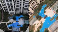 Kekecewaan pembeli apartemen di Tiongkok (Sumber: weibo)