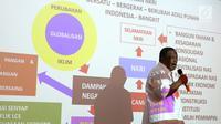Jendral TNI (Purn) Djoko Santoso memberikan paparan pada acara Deklarasi Melati Putih Indonesia di Bambu Apus Raya, Jakarta, Jumat (14/9). Deklarasi yang terdiri dari kelompok ema-emak mendukung Prabowo-Sandi pada Pilpres 2019. (Liputan6.com/Fery Pradolo)