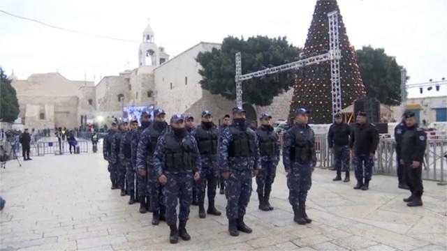Petugas keamanan Palestina mulai memperketat keamanan Kota Betlehem jelang Natal 2018.