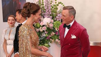 Kate Middleton Tampil Glamor di Premier Film James Bond Terbaru, Dipuji Sangat Cantik oleh Daniel Craig