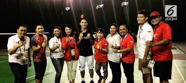 Jonatan Christie berhasil menyabet medali emas dalam Asian Games 2018. Mendapat banyak dukungan, ia pun mengunggah foto dan rasa syukur di akun Instagramnya.