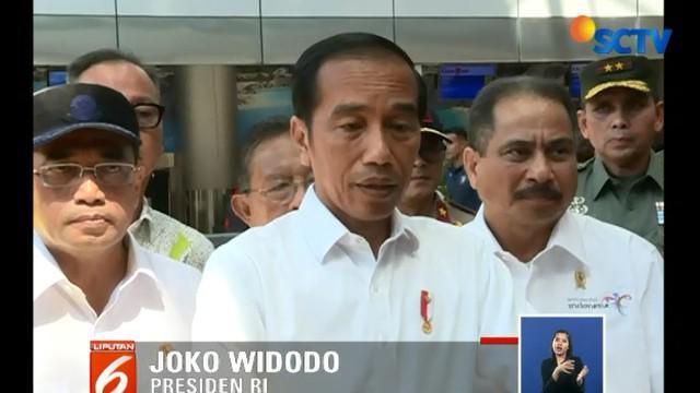 Jokowi mengaku telah menginstruksikan Kementerian Perhubungan untuk membangun terminal di sayap kiri bandara untuk memenuhi jumlah penumpang yang mencapai 2 juta per tahun.