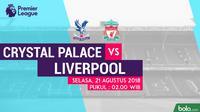 Premier League Crystal Palace Vs Liverpool (Bola.com/Adreanus Titus)