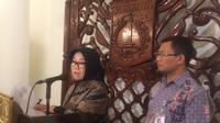 Kepala Bappeda DKI Tuty Kusumawati mengklarifikasi data Menkeu Sri Mulyani soal APBD DKI (Liputan6.com/Delvira Chaerani Hutabarat)
