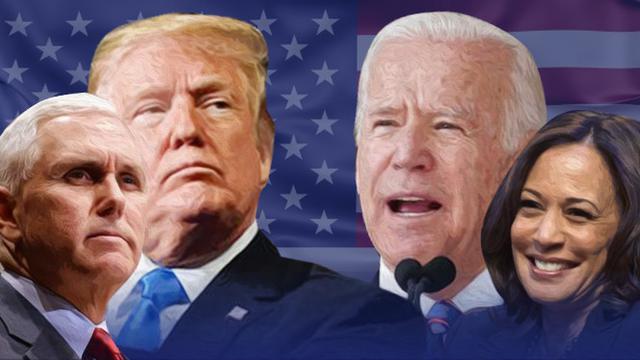 Ilustrasi Pilpres AS 2020, Donald Trump-Mike Pence dan Joe Biden-Kamala Harris
