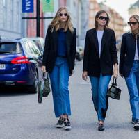 Inspirasi outfit mix and match oversize blazer. (Foto: elle.com)
