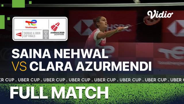 Berita video momen tunggal putri India, Saina Nehwal, tak melanjutkan pertandingan ketika menghadapi wakil Spanyol, Clara Azurmendi, di laga pertama Grup B Piala Uber 2020, Minggu (10/10/2021).