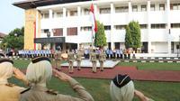 Mendagri pimpin upacara di Kampus IPDN.