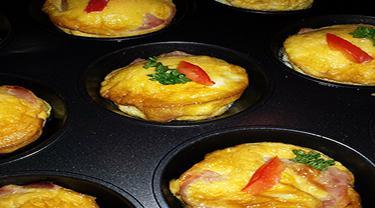 Ilustrasi muffin telur jamur