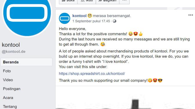 Aplikasi besutan startup Jerman Kontool ramai dikomentari warganet (Foto: Akun Facebook Kontool)
