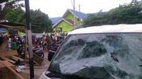 Lokasi bentrokan simpatisan PDIP dan PPP di Bantul, DIY. (Fathi Mahmud/Liputan6.com)