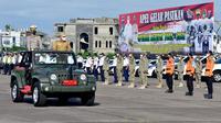Apel Pasukan dalam rangka Operasi Ketupat Toba 2021, di Lapangan Apron Charlie, Pangkalan Udara (Lanud) Soewondo (Istimewa)