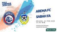 Piala Gubernur Jatim 2020: Arema FC vs Sabah FA. (Bola.com/Dody Iryawan)
