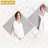 White shirt dress yang bikin penampilan jadi maksimal saat spring summer. (Image: forever21.com. DI: Muhammad Iqbal Nurfajri)