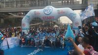 Demi menuju kampanye Gerakan Indonesia Sehat, Le Minerale bekerjasama dengan Ikatan Dokter Indonesia (IDI) mengadakan 'Le Minerale Water Run 2018', Minggu (22/7) Jakarta.