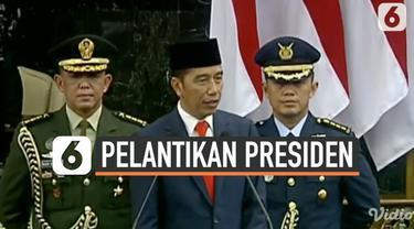 Usai dilantik menjadi Presiden RI 2019-2024, Joko Widodo menyampaikan pidato perdananya di depan sidang paripurna. Secara keseluruhan ada lima poin yang disampaikan Jokowi kepada tamu undangan.