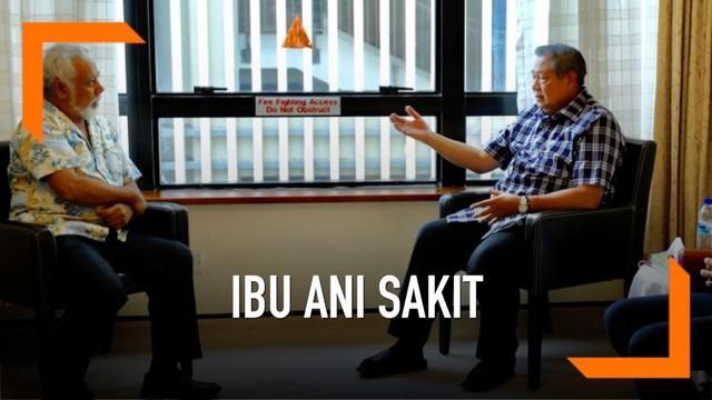 Mantan PM Timor Leste Xanana Gusmao menjenguk Ibu Ani Yudhoyono di National University Hospital, Singapura. Xanana di terima SBY dan AHY. Xanana mendoakan kesembuhan Ibu Ani Yudhoyono
