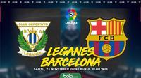 La Liga - Leganes Vs Barcelona (Bola.com/Adreanus Titus)
