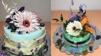 Inspirasi bunga asli untuk dekorasi kue. (Sumber: Instagram/steinkampf_flower_cakes)