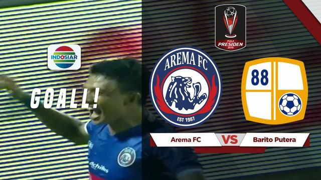 Berita video kemenangan dramatis yang dibuat Arema FC setelah tertinggal 0-2 dari Barito Putera dalam turnamen Piala Presiden 2019, Senin (4/3/2019).