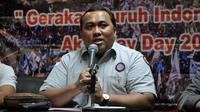 Presiden KSPI, Andi Gani Nena Wea saat konferensi pers terkait Hari Buruh Internasional, Jakarta , Kamis (23/4/2015). Andi mengatakan akan turun sebanyak 178 ribu buruh mengikuti aksi Mayday. (Liputan6.com/Johan Tallo)
