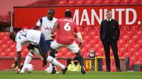 Manchester United Vs Tottenham Hotspur di Old Trafford, Minggu (4/10/2020). (AFP/Oli Scarff)