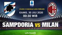 Banner prediksi Sampdoria vs AC Milan. (Triyasni)